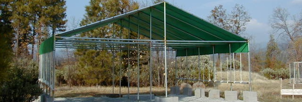 & Canopy Kits Poly Tarps and Frame Fittings | Creative Shelters