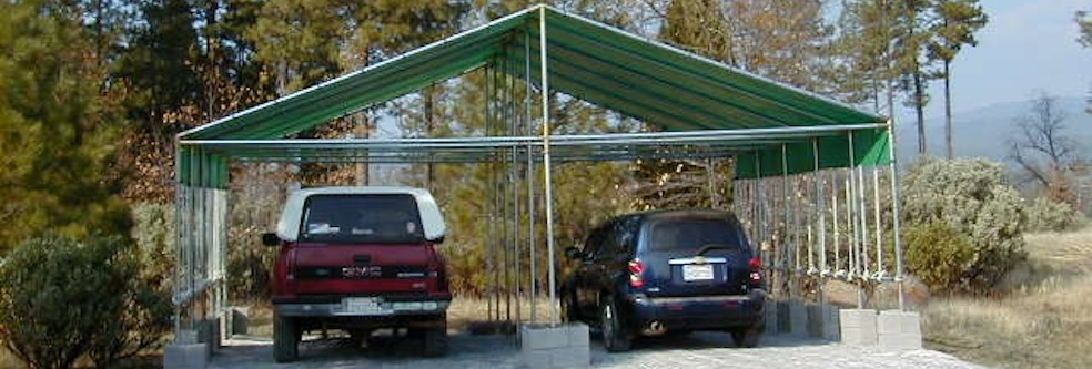 Replacement Covers Shelter Garage 120 240 : Canopy kits poly tarps and frame fittings creative shelters