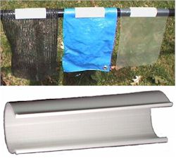Snap Cl& fits on 3/4 in EMT conduit or 1/2 in PVC Pipe (01) & 48 INCH wide Snap Clamps (Fabric Clip) | Creative Shelters