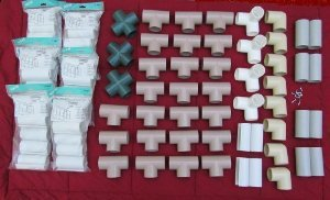 Pvc greenhouse kit fittings and snap clamps only creative shelters
