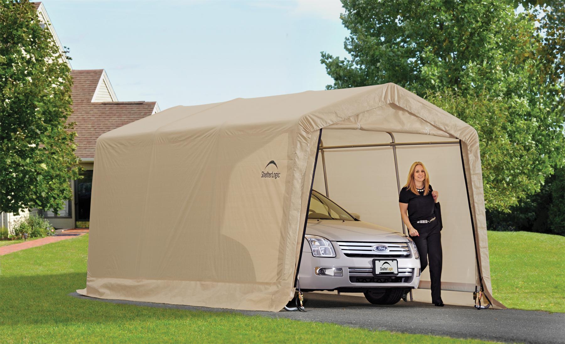 Autoshelter 174 10x15 Peak Roof Portable Garage Creative