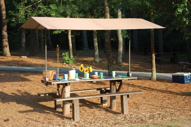 Quick Cl& Picnic Table Canopy & Quick Clamp Canopy | Creative Shelters