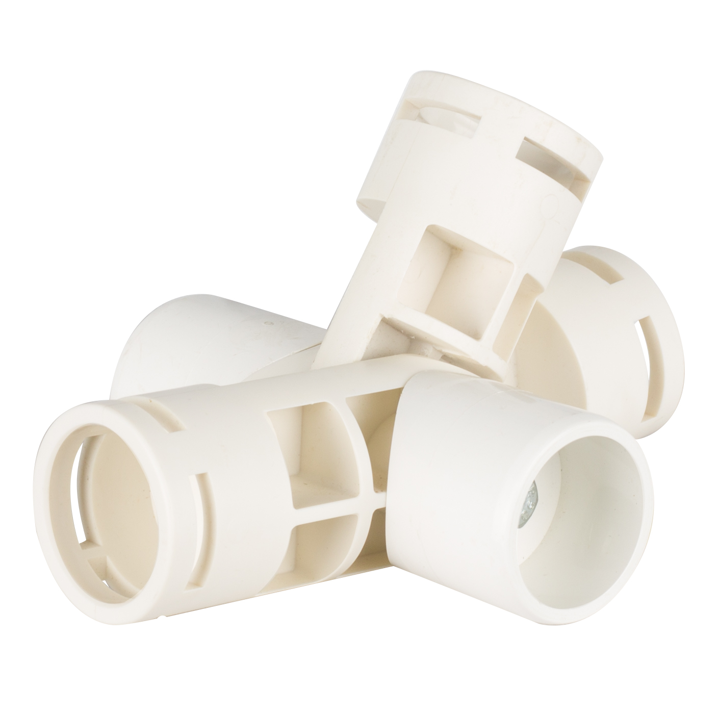 Adjustable 5-Way Joint Fittings for 1  PVC (243-5F)  sc 1 st  Creative Shelters & White PVC Fittings | Creative Shelters