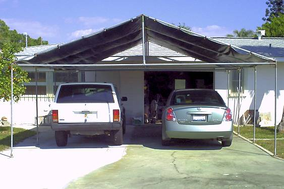 Two Car Carport At 101 years old John designed and built this two car canopy with reinforced trusses. Take a look at the document to see more photos of his ... & Customer Photo Gallery | Creative Shelters